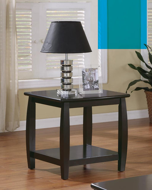 Wood Top Espresso End Table image