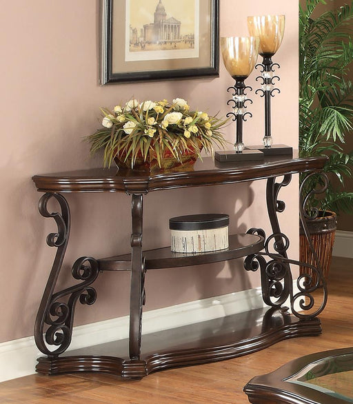 Occasional Traditional Dark Brown Sofa Table image