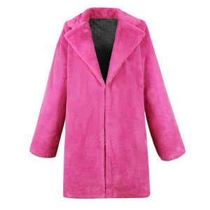 Fashionable Winter Long Coat Women Pink Winter Teddy Bear Faux Fur Coat Jackets Ladies Warm Jumper Ladies Outwear 2019 Hot Sales