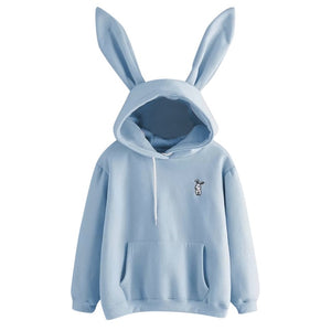 kawaii Hoodies Women Girl Sweatshirt 2020 Cute Bunny Ear Pullover Autumn Winter Casual long sleeve ladies top sudadera mujer