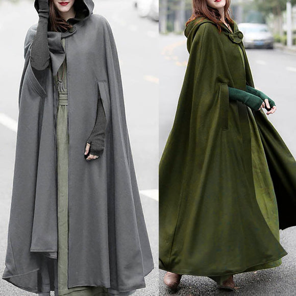 Women Unique Charm Trench Coat Open Front Cardigan Elegant Jacket Cape Cloak Poncho Plus Street Dark Chic Style Coat