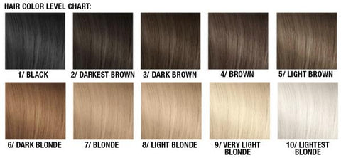 Hair color level chart