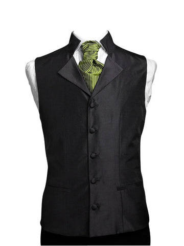 Waistcoat with high collar and lapel silk taffeta - By Eneroth