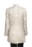 "Jacket ""Nehru"" in Ivory silkbrocade - By Eneroth"