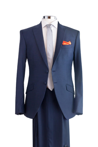 "Suit ""Aguéli"" in blue wool - By Eneroth"