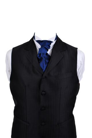 Cravat in blue silk taffeta - By Eneroth