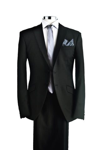 "Suit ""Delling"" in black wool - By Eneroth"