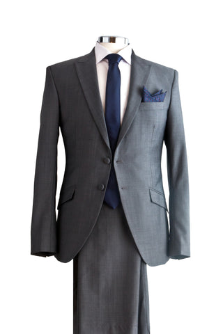 "Suit ""Dorian"" in grey wool - By Eneroth"
