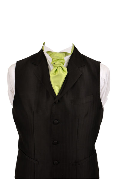 Cravat in lime silk taffeta