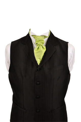 Cravat in lime silk taffeta - By Eneroth