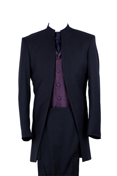 "Jacket ""Nehru"" in midnightblue wool"