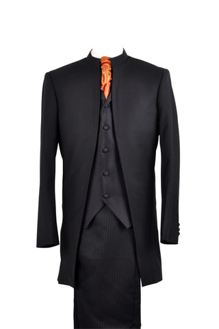 "Suit ""Nehru"" in black wool - By Eneroth"