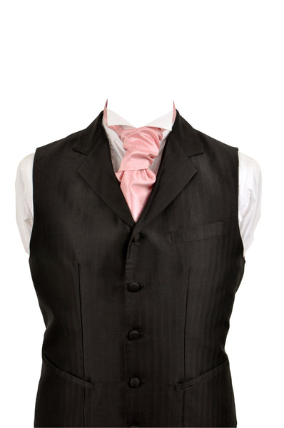 Cravat in pink silk taffeta