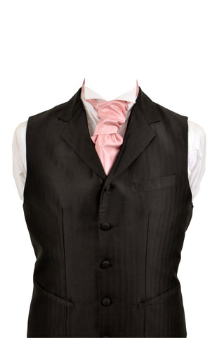 Cravat in pink silk taffeta - By Eneroth