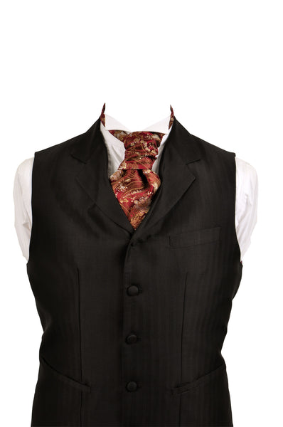Cravat in red silk brocade