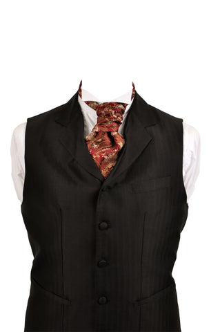 Cravat in red silk brocade - By Eneroth