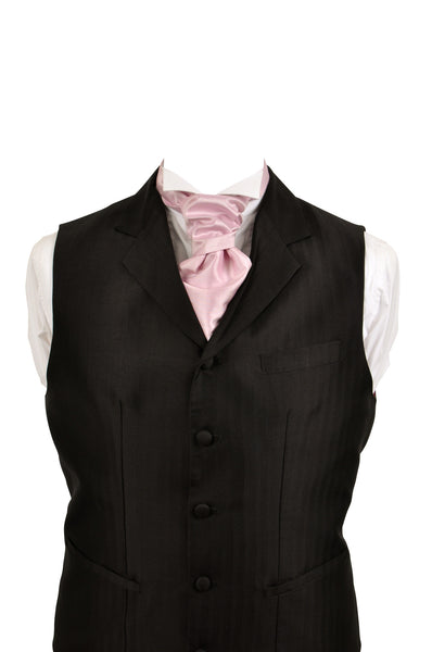 Cravat in syren silk taffeta