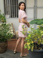 Load image into Gallery viewer, MADEBYTDA RAE LACE SKIRT (DUSTY PINK)
