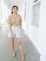 Load image into Gallery viewer, MILLER COLLARED TOP (TAUPE)