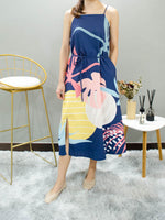 Load image into Gallery viewer, AURORA SUMMER MIDI DRESS (BLUE)