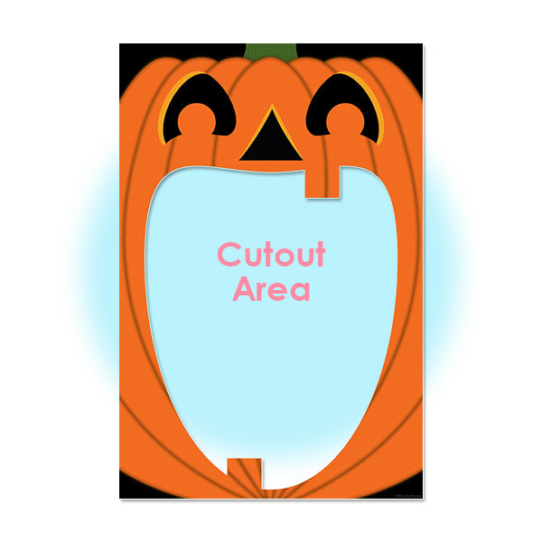 Jack O Lantern Pumpkin Halloween Party Photo Prop Cutout