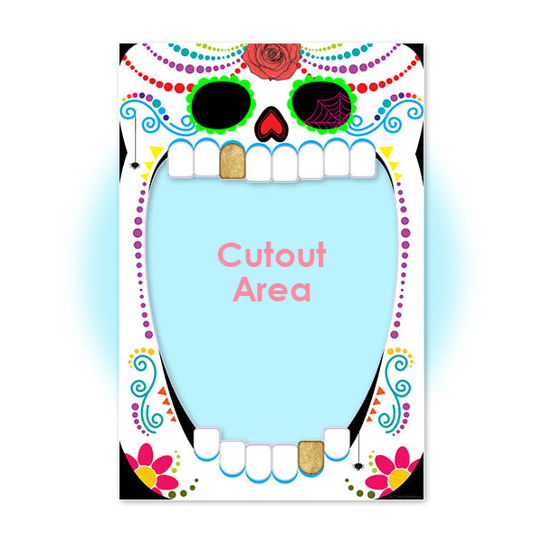 Sugar Skull Halloween Party Photo Prop Cutout