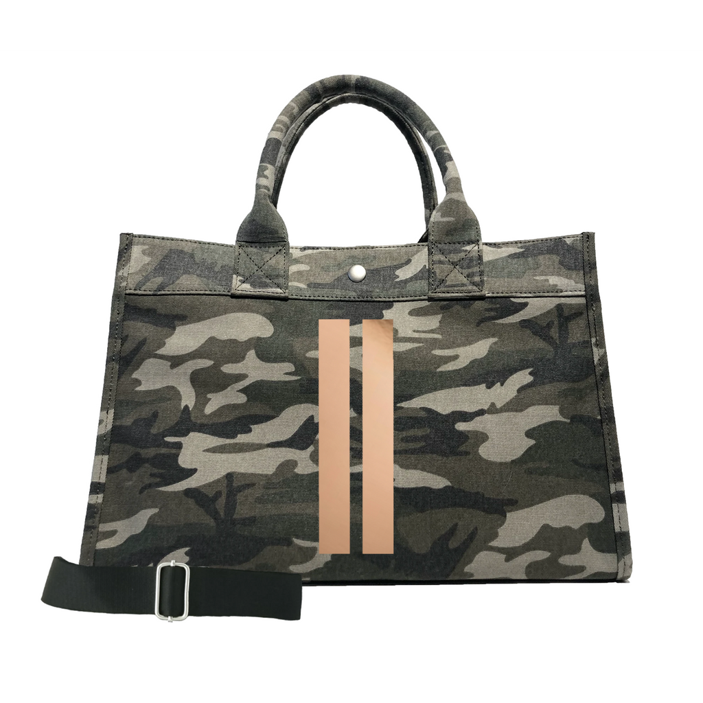 Green Camo Midi/rose gold gunmetal stripe