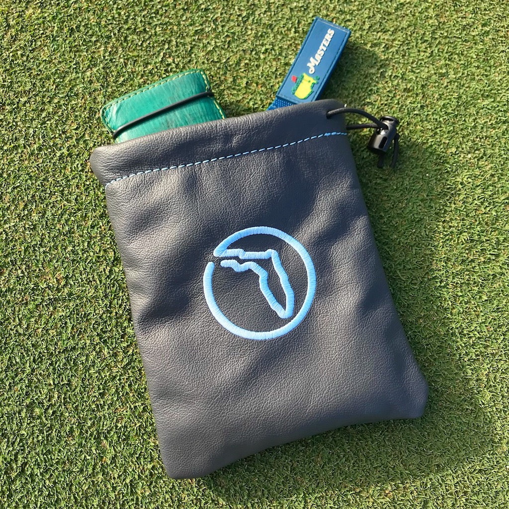 leather bag / valuables pouch (design-your-own) - coobs golf