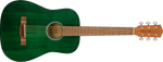 FA-15 3/4 Scale Steel with Gig Bag, Walnut Fingerboard, Green