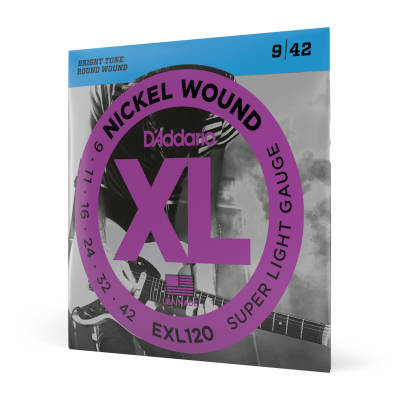 D'Addario EXL120 - Nickel Wound SUPER LIGHT 09-42