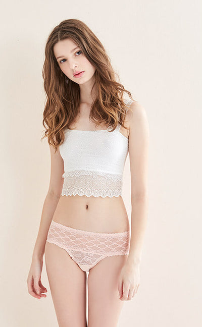 The Lacie • Tulle Full Lace Low Rise Panty - Celessa Soft Clothing