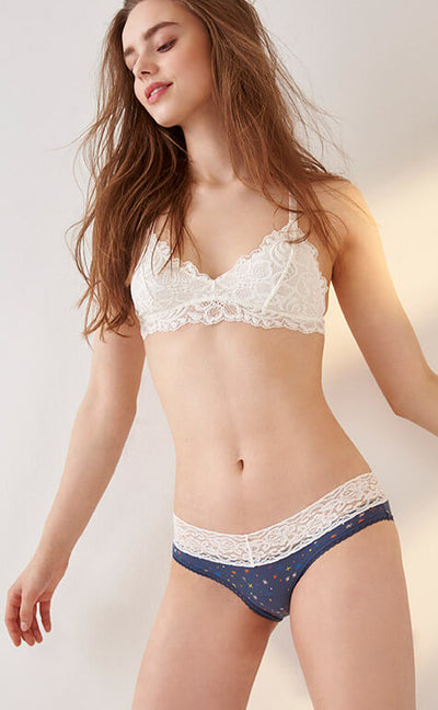 Summer Night Sky • Low Rise V Lace Panty - Celessa Soft Clothing