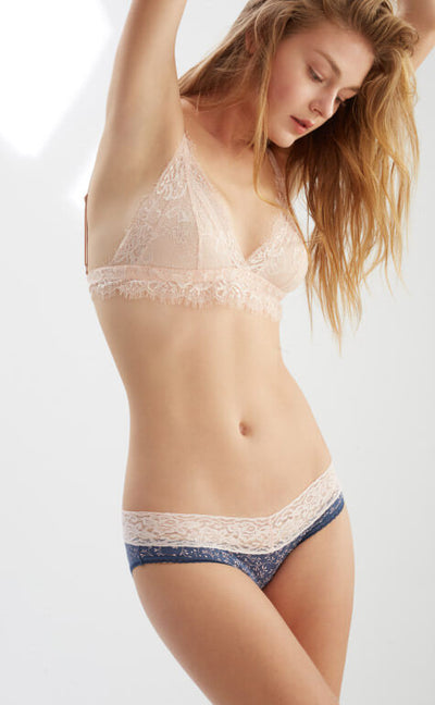 Spring Vine • Low Rise V Lace Panty - Celessa Soft Clothing