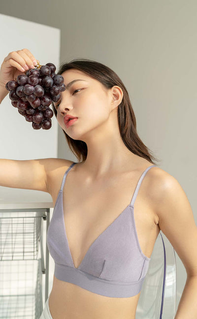 Summer Dairy • Modal Bralette(Lotus Purple) - Celessa Soft Clothing