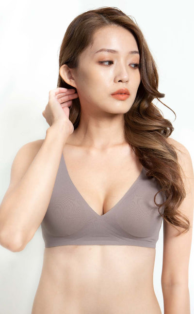 Bare • Seamless Bra Rosy Brown - Celessa Soft Clothing