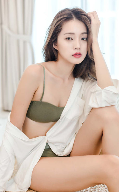 [Pre-Order] Summer Dairy • Modal Strapless Multiway Bra (Army Green) - Celessa Soft Clothing