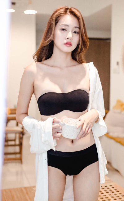 [Pre-Order] Summer Dairy • Modal Strapless Multiway Bra (Black) - Celessa Soft Clothing
