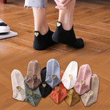 Fashion Socks Woman 2020 New Spring 4 Pairs Ankle Girls Cotton Color Novelty Women Fashion Cute Heart Casual Funny Sock Autumn