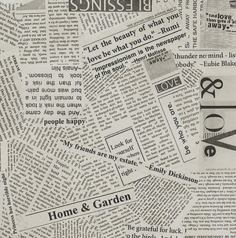 Cut ups of newspapers