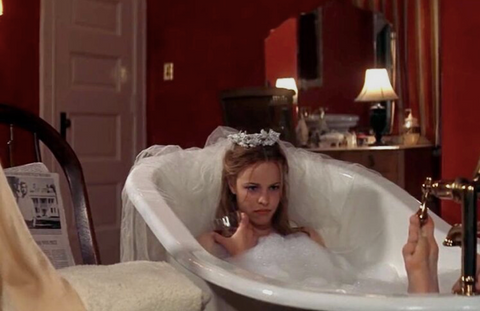 "Scene from the movie ""the notebook"" where lead actress Rachel McAdams is in the bath"