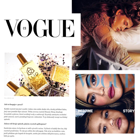 Vogue Czechaslovakia Essential oils with crystals, balms for the soul