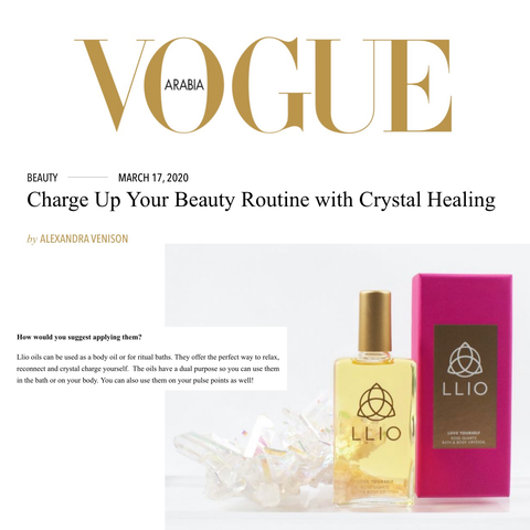 Vogue Arabia Charge up your beauty routine with crystal healing