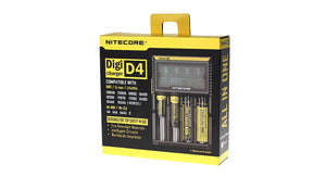 Nitecore D4 4-Slot Digital Battery Charger w/ LCD Display Screen