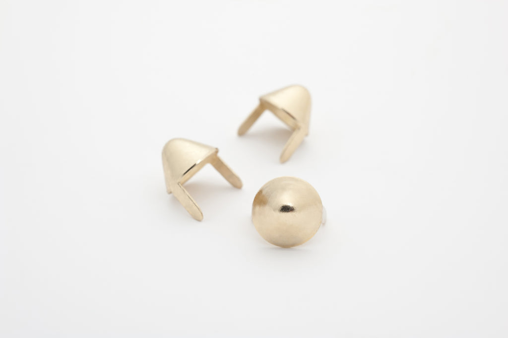 Gold English 77 Cone Studs