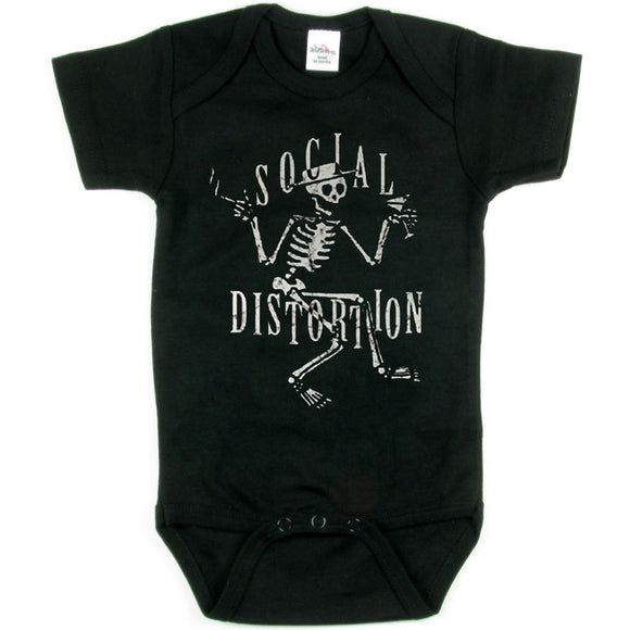 Social Distortion Skelli Logo Onesie