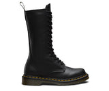 Black Dr. Marten 14 Eye Boots with Zipper 1B99 Smooth - DeadRockers