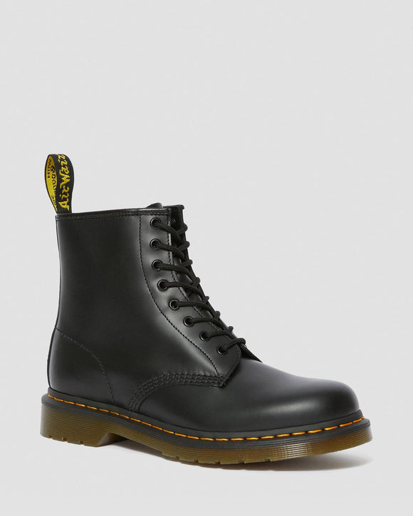 1460 Black Smooth Dr. Marten 8 Eye Boots