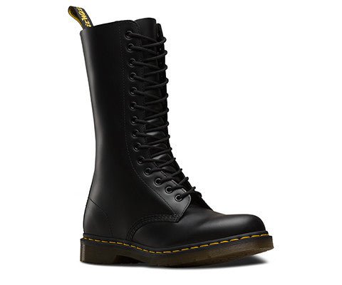 1914 Smooth Black Dr. Marten 14 Eye Boots