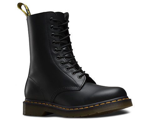 1490 Smooth Black Dr. Marten 10 Eye Boots
