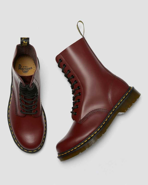 1490 Smooth Cherry Red Dr. Marten 10 Eye Boots